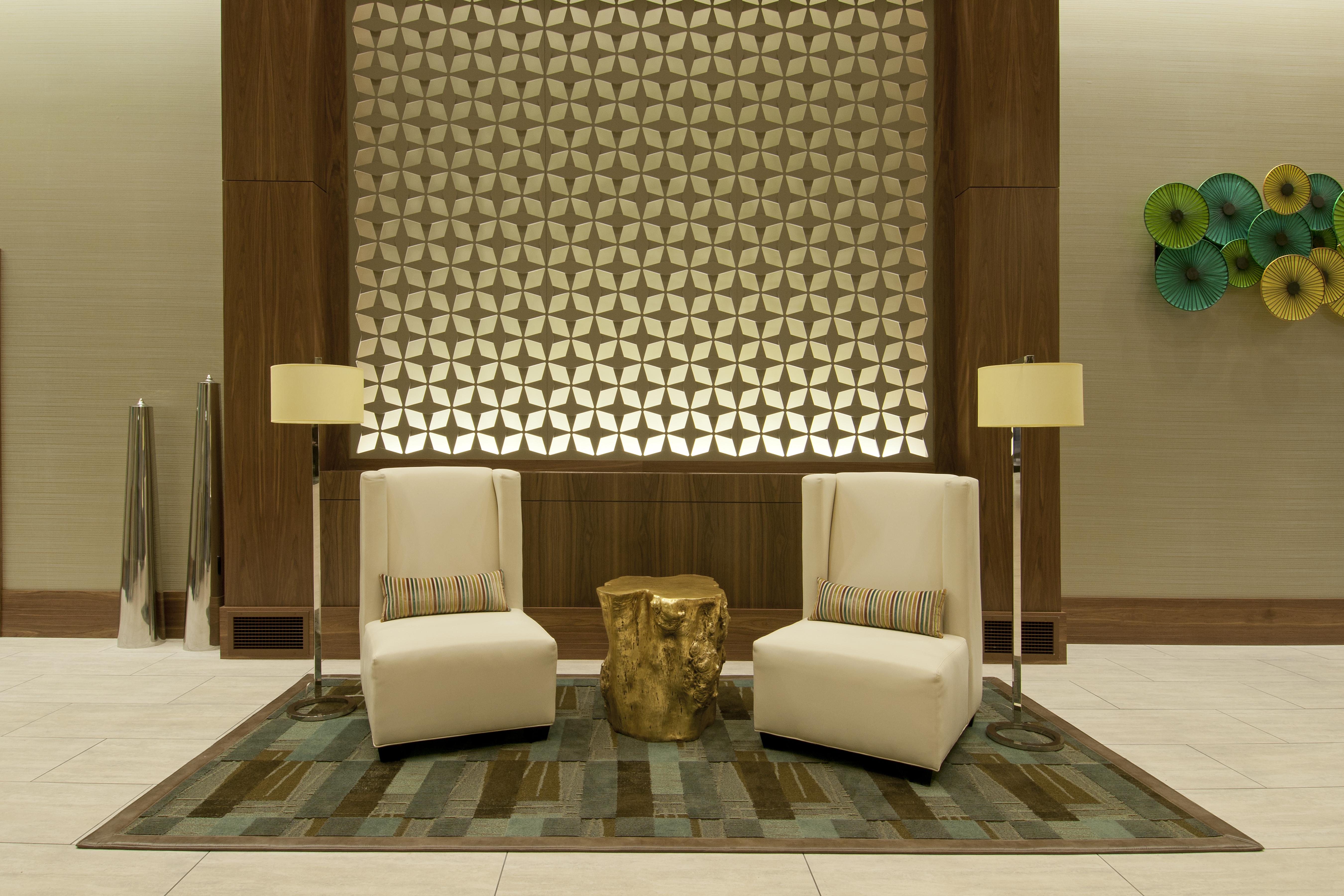 Interior design inside design studio for Hotel lobby decor photos